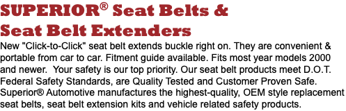 Seatbelts / Extensions
